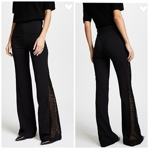Alice + Olivia | High Waisted Lace Wide Leg Pants